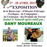 """74 ème """" Exposition de la Basse-cour, d'Oiseaux d'élevages, Artisans et Produits du Terroir """" à Montbeliard (25), samedi 27 et dimanche 28 avril 2013"""
