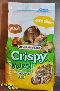Alimentation pour rat, gerbille, hamster et souris : Crispy Muesli Hamsters & Co (Versele Laga)