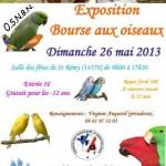 Exposition - Bourse aux oiseaux à Saint Rémy sur Orne (14), dimanche 26 mai 2013