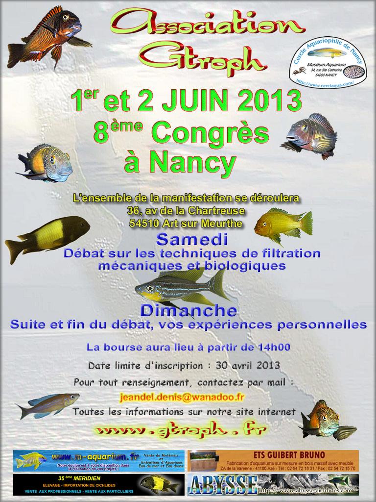 Congrès aquariophile et bourse aux poissons à Nancy (54), samedi 01 et dimanche 02 juin 2013