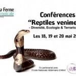 """Conférences """"Reptiles Venimeux-Diversité, Ecologie et Terrariophilie"""" à Paris (75), les 18, 19 et 20 mai 2013"""
