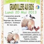 """Fête animalière """" Présentation d'animaux de Basse-cour """" à Grandvillers aux Bois (60), le lundi 20 mai 2013"""