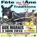 fête de l'âne et des traditions le 2 juin 2013, Aux Marais dans l'Oise