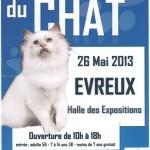 Salon du Chat à Evreux (27), dimanche 26 mai 2013