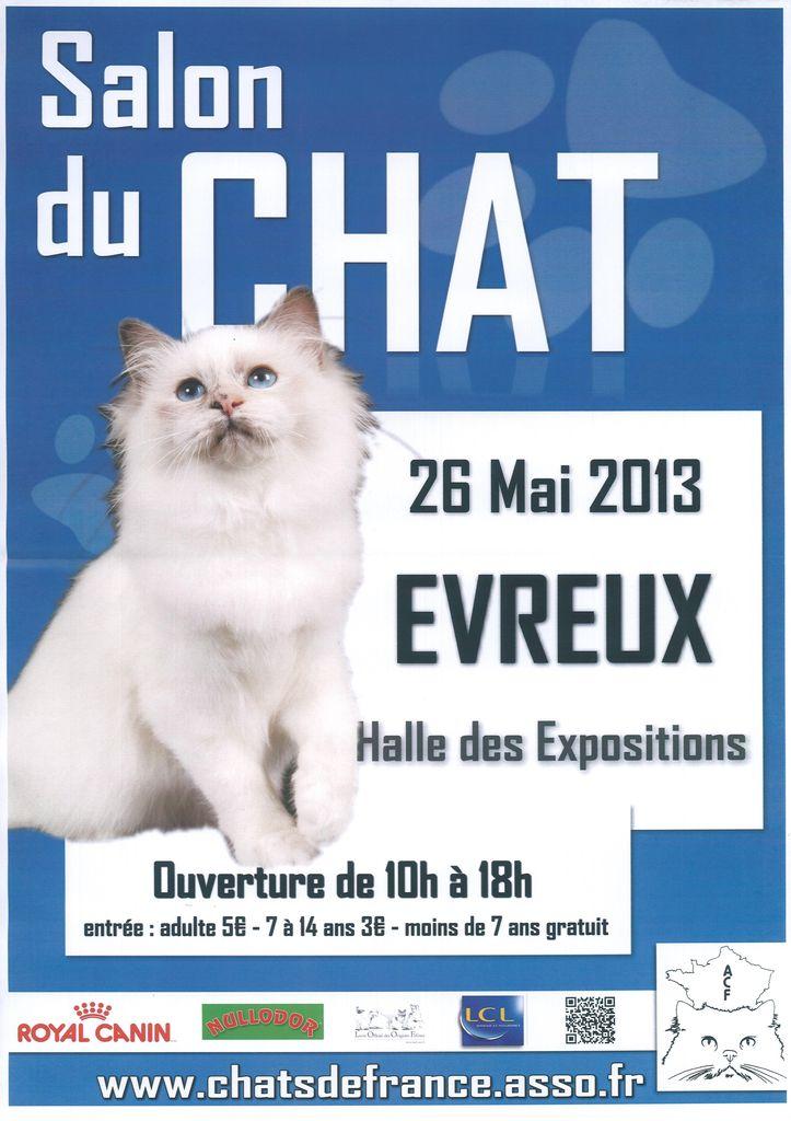 Salon du chat evreux 27 dimanche 26 mai 2013 animogen for Salon chat sexe