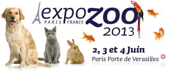 """Salon professionnel animalier """"Expozoo"""" à Paris (75), dimanche 2, lundi 03 et mardi 04 juin 2013"""