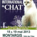 Salon International du chat à Montargis (45),samedi 18 et dimanche 19 mai 2013