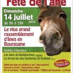 14 ème Fête de l'Âne à Baron (71), le dimanche 14 juillet 2013