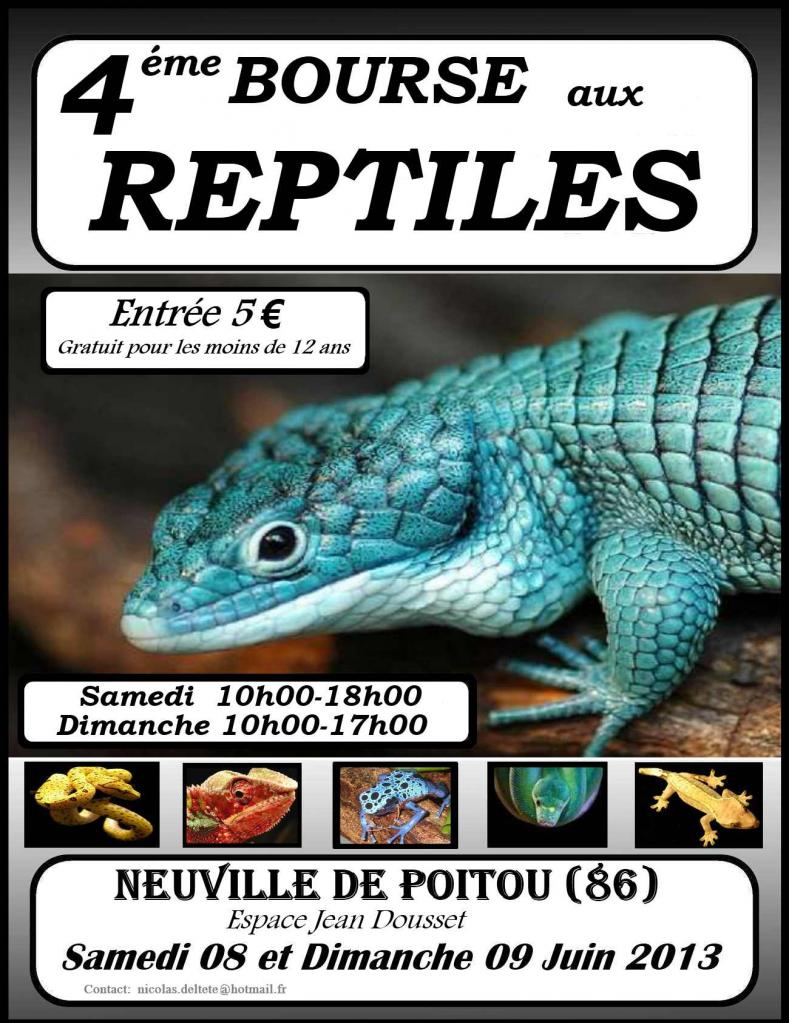 4 ème Bourse aux Reptiles à Neuville de Poitou (86), samedi 08 et dimanche 09 juin 2013