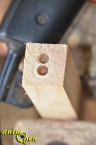 Accessoire à fabriquer pour nos perroquets : échelle en bois aux montants en chaîne métallique