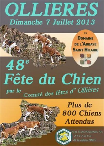 48 ème Fête du Chien à Ollières (83), le dimanche 07 juillet 2013