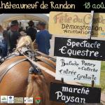 Fête du Cheval à Châteauneuf de Randon (48), le dimanche 18 août 2013