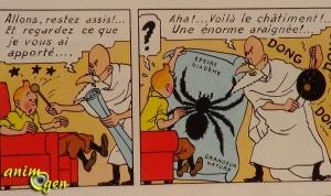L'araignée dans Tintin