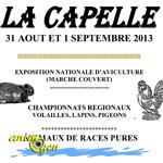Exposition Nationale d'Aviculture à La Capelle (02), du samedi 31 août au dimanche 1 er septembre 2013