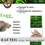 Exposition-vente d'animaux «  Zoonac », à Le Teil (07), du samedi 31 août au dimanche 01 er septembre 2013