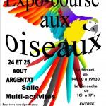 6 ème Exposition-Bourse aux oiseaux à Argentat (19), samedi 24 et dimanche 25 août 2013
