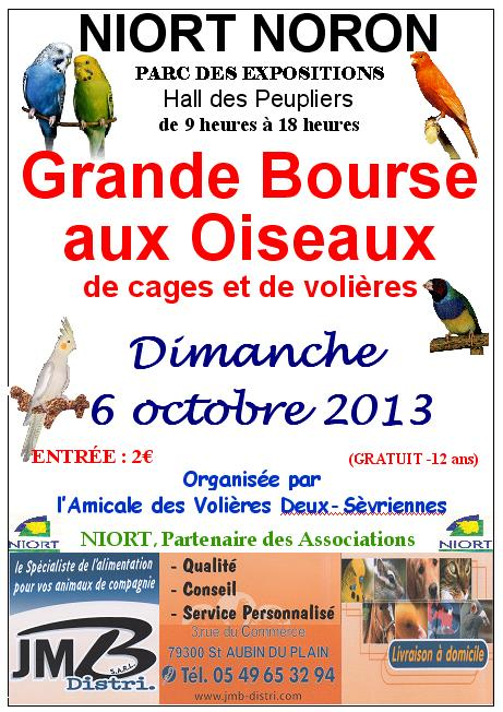 Bourse d'Echanges d'oiseaux de Normandie à Niort (79), le dimanche 06 octobre 2013