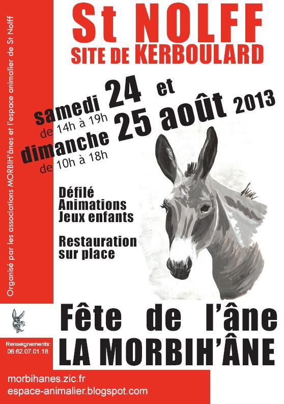 6 ème Fête de l'âne à Saint Nolff (56), samedi 24 et dimanche 25 août 2013