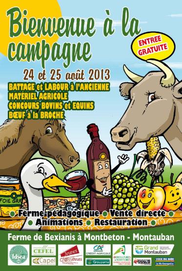 Fête « Bienvenue à la campagne » à Montebon (82), samedi 24 et dimanche 25 août 2013