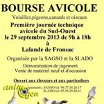 3 ème Bourse Avicole à Lalande de Fronsac (33), le dimanche 29 septembre 2013