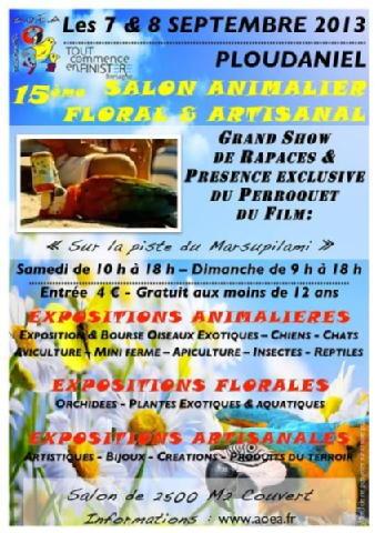 15 ème Salon animalier, floral et artisanal à Ploudaniel (29), samedi 07 et dimanche 08 septembre 2013