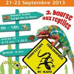 3 ème Bourse aux Reptiles à Sargé-lès-le Mans (72), du samedi 21 au dimanche 22 septembre 2013
