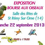 Exposition Bourse aux Oiseaux à Saint Rémy sur Orne (14), le dimanche 22 septembre 2013