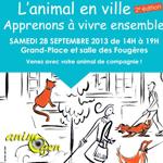 Fête « L'animal en ville, apprenons à vivre ensemble » à Boulogne-Billancourt, le samedi 28 septembre 2013