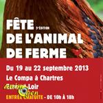 5 ème Fête de l'Animal de Ferme à (28), du jeudi 19 au dimanche 22 septembre 2013