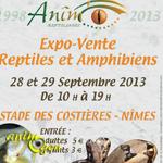 Expo-vente de Reptiles et Amphibiens à Nîmes (30), du samedi 28 au dimanche 29 septembre 2013