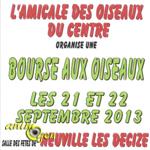 Bourse aux Oiseaux à Neuville-lès-Decize (58), du samedi 21 au dimanche 22 septembre 2013