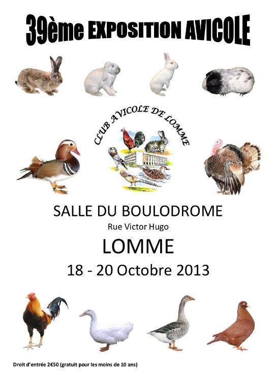 39 ème Exposition Avicole à Lomme (59), du 18 au 20 octobre 2013