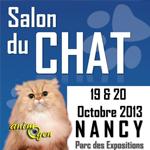 Salon du Chat à Nancy (54), du samedi 19 au dimanche 20 octobre 2013
