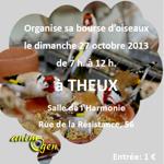 """""""Bourse d'oiseaux"""" à Theux (Belgique), le dimanche 27 octobre 2013"""
