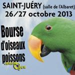 Bourse d'Oiseaux, Poissons et Reptiles à Saint-Juéry (81), du samedi 26 au dimanche 27 octobre 2013