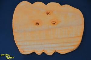 Jouet à fabriquer : une citrouille de bois pour nos perroquets