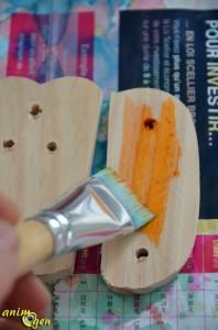 Jouet à fabriquer :  citrouille en pièces détachées pour nos perroquets