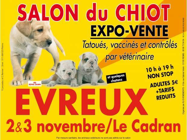 Salon du chiot evreux 27 du samedi 02 au dimanche 03 for Salon du chiot chavagne 2017