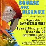Bourse aux oiseaux à Sanvignes les Mines (71), du samedi 19 au dimanche 20 octobre 2013