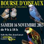 Exposition-Bourse d'Oiseaux de Cages et de Volières à Etampes (91), le samedi 16 novembre 2013