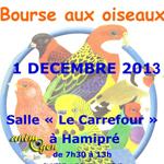 Bourse aux oiseaux à Hamipré (Belgique), le vendredi 01 er décembre 2013