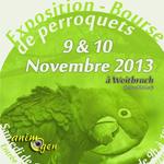 Exposition-Bourse de perroquets à Weitbruch (67), du samedi 09 au dimanche 10 novembre 2013
