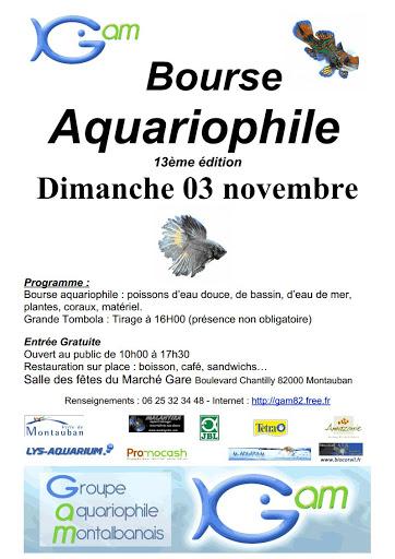 13 ème Bourse Aquariophile à Montauban (82), le dimanche 03 novembre 2013