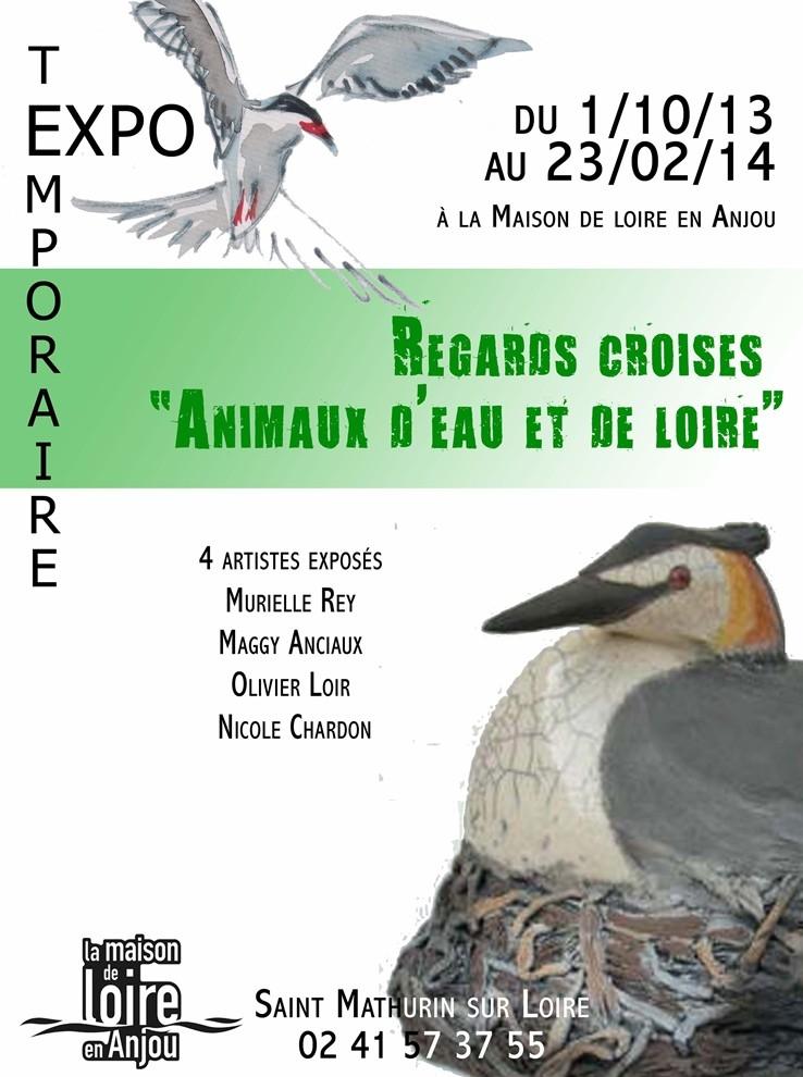 """Exposition """"Regards croisés animaux d'eau et de Loire"""" à Saint Mathurin sur Loire (49), du 01 er octobre 2013 au 23 février 2014"""