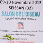 Salon de l'Oiseau à Seissan (32), du samedi 09 au dimanche 10 novembre 2013