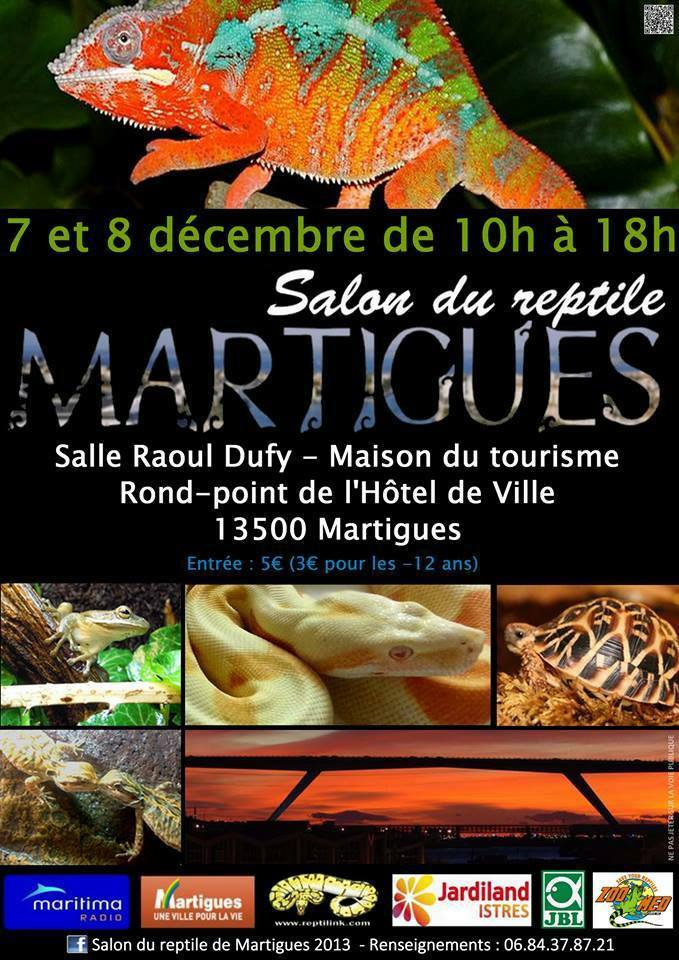 3 me salon du reptile martigues 13 du samedi 07 au for Salon du reptile 2017