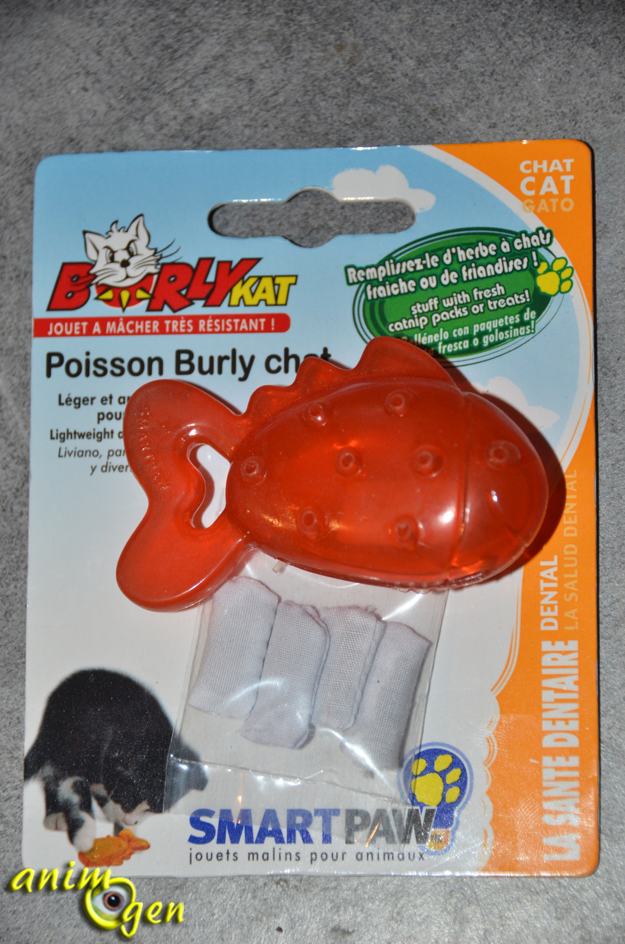 jouet chat dent