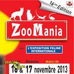 16 ème Salon des Animaux, Zoomania à Toulouse (31), du samedi 16 au dimanche 17 novembre 2013