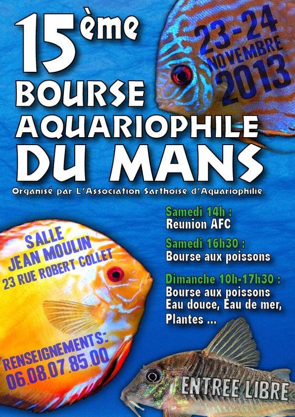 15 ème Bourse aquariophile au Mans (72), du samedi 23 au dimanche 24 novembre 2013