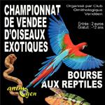 Championnat de Vendée d'Oiseaux exotiques et Bourse aux reptiles à La Roche sur Yon (85), du samedi 23 au dimanche 24 novembre 2013